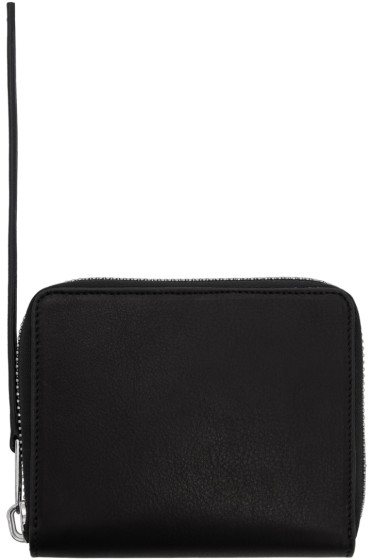Rick Owens - Black Small Zipped Wallet