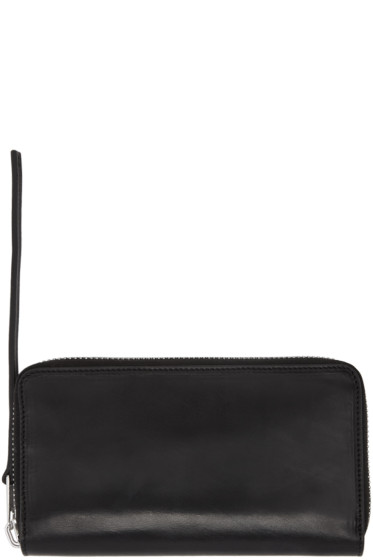 Rick Owens - Black Medium Zippered Wallet