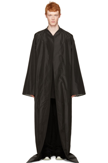 Rick Owens - Black Long Beach Coat