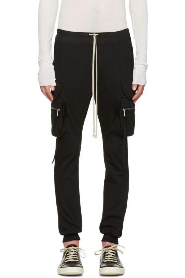 Rick Owens - Black Drawstring Cargo Jog Trousers