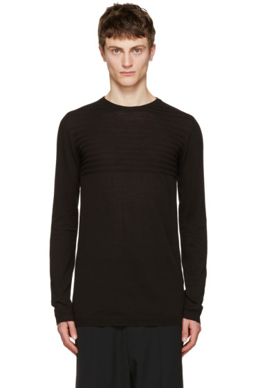 Rick Owens - Black Biker Level Sweater