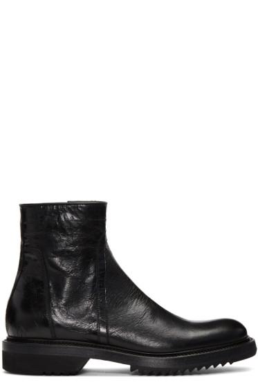 Rick Owens - Black Cracked Creeper Boots