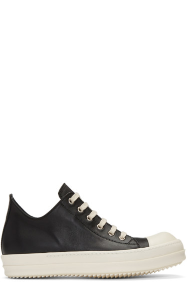 Rick Owens - Black Low Sneakers