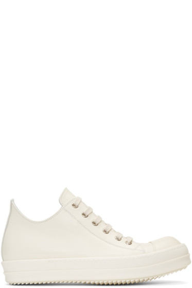 Rick Owens - Ivory Low Sneakers