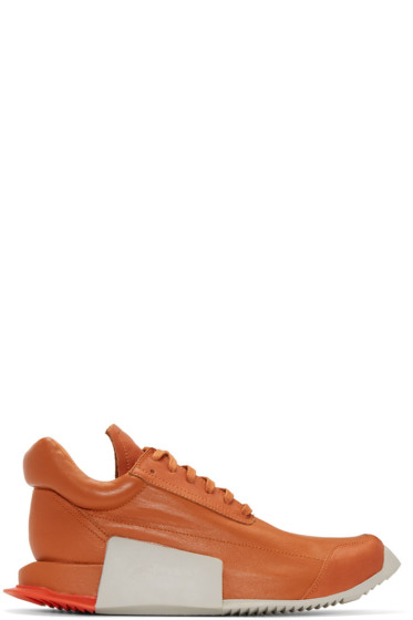 Rick Owens - Orange adidas Orginals Edition Leather Level Sneakers