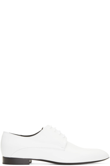 Jil Sander - White Pointed Toe Derbys