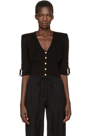 Balmain - Black V-Neck Pullover