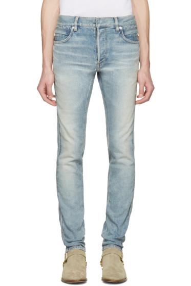 Balmain - Blue Ribbed Jeans