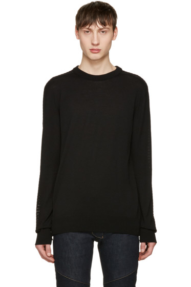 Balmain - Black Side Zip Sweater