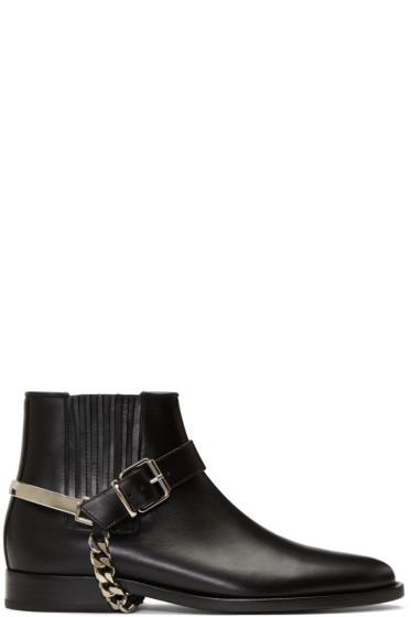 Balmain - Black Eperon Boots