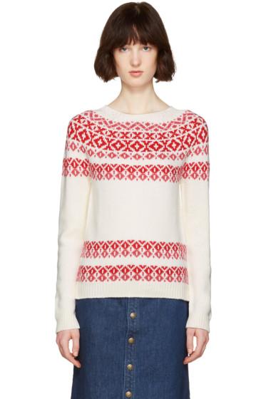 A.P.C. - Ivory & Pink Romy Après-Ski Sweater