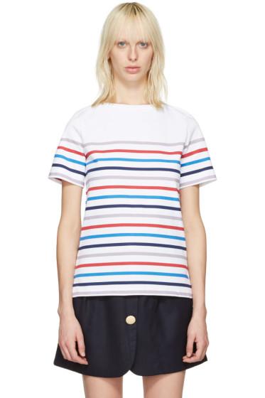A.P.C. - White Striped Yoyogi T-Shirt