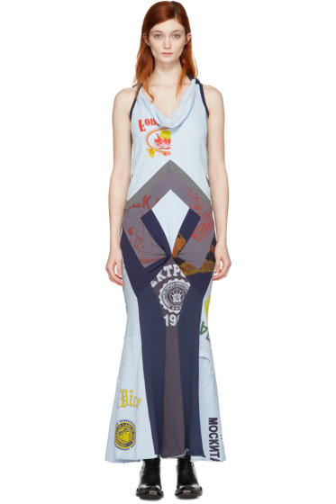 Junya Watanabe - Blue Patchwork Print Mix Dress