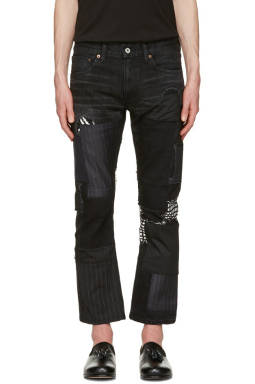 Junya Watanabe - Black Multi Fabric Patch Jeans