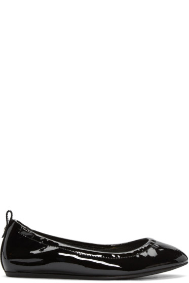 Lanvin - Black Patent Leather Classic Ballerina Flats