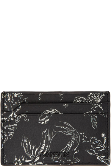 Lanvin - Black Koi Card Holder