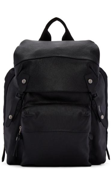 Lanvin - Black Leather & Nylon Rucksack