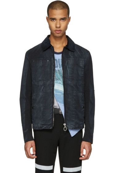 Lanvin - Black Waxed Cotton Jacket
