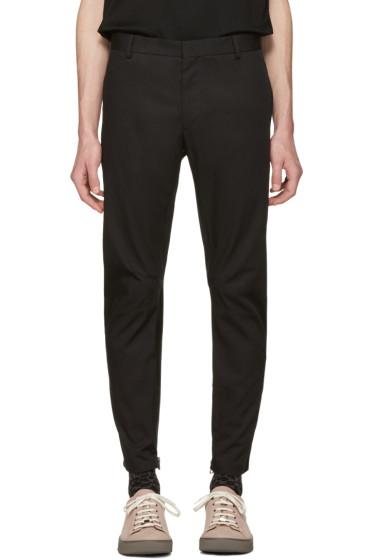 Lanvin - Black Biker Chino Trousers