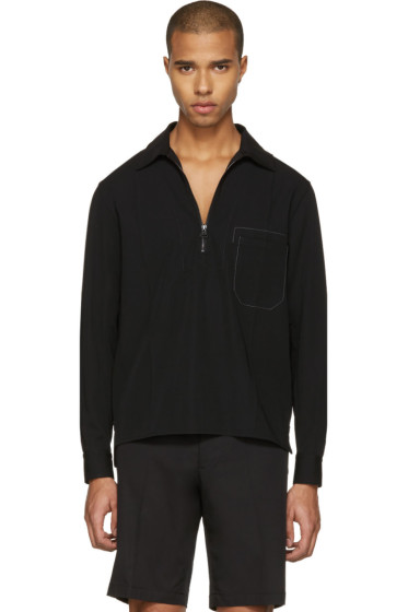 Lanvin - Black Zip-Front Shirt