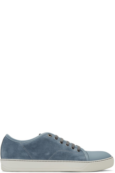 Lanvin - Blue Suede Tennis Sneakers