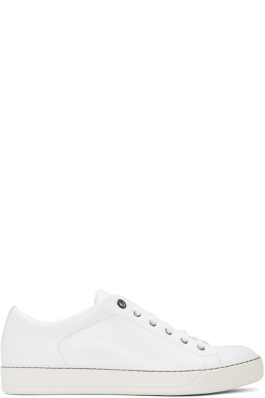 Lanvin - White Leather Sneakers