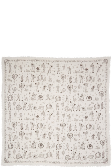 Alexander McQueen - Ivory Circus Tricks Scarf