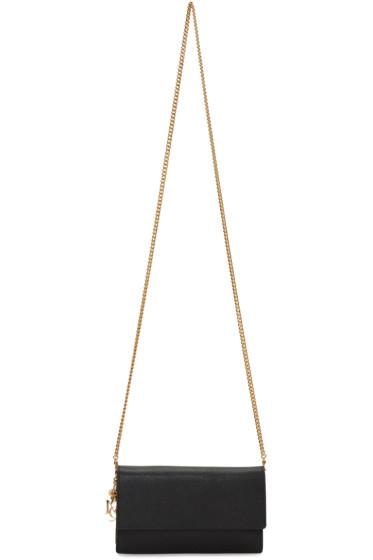Alexander McQueen - Black Leather Chain Shoulder Bag