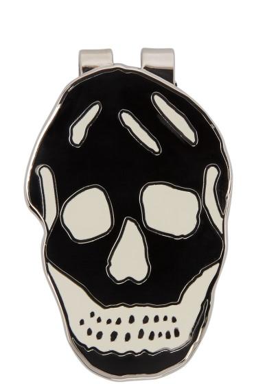 Alexander McQueen - Black & White Skull Money Clip