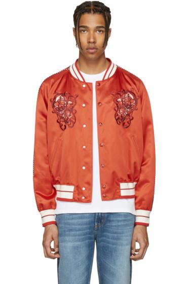 Alexander McQueen - Red Skulls Souvenir Bomber Jacket