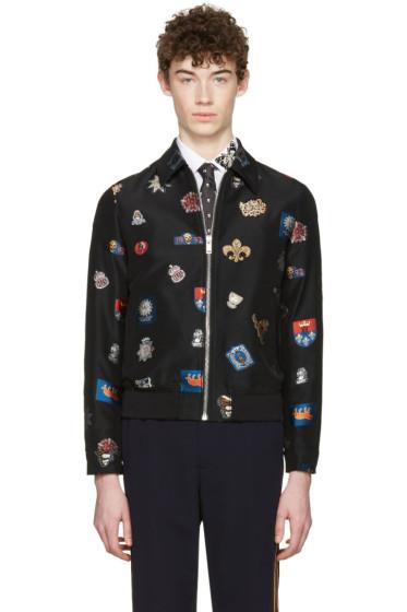 Alexander McQueen - Black Badges Bomber Jacket