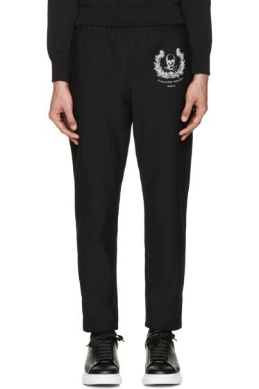 Alexander McQueen - Black Skull & Crown Lounge Pants