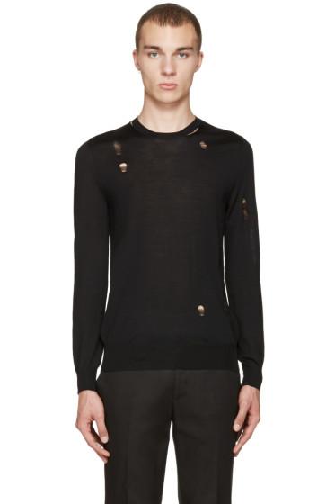 Alexander McQueen - Black Destroyed Pullover