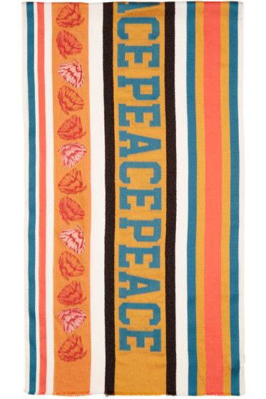 Paul Smith - Multicolor Jacquard River Peace Scarf