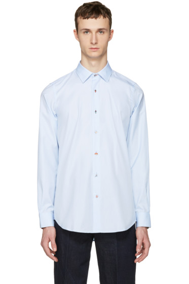 Paul Smith - Blue Charm Buttons Tailored Shirt