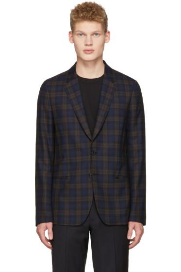 Paul Smith - Brown & Navy Plaid Blazer