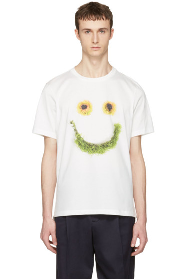 Paul Smith - White Floral Smiley T-Shirt