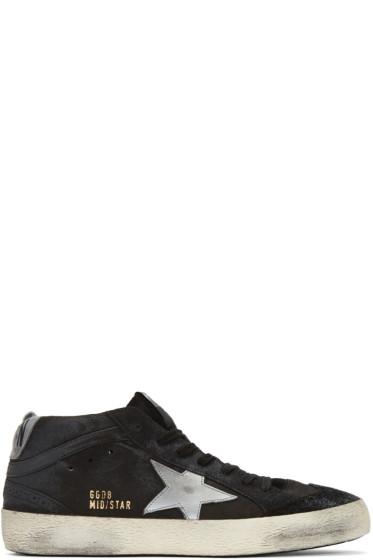 Golden Goose - Black Suede Mid Star High-Top Sneakers