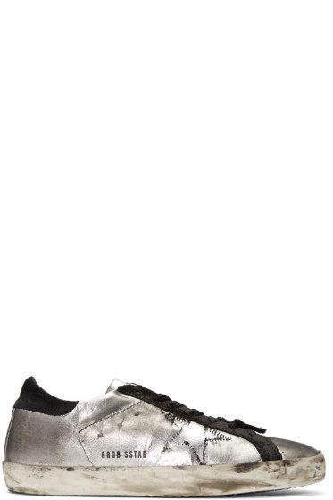 Golden Goose - Silver Ripped Off Superstar Sneakers