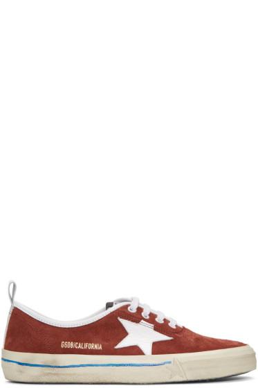 Golden Goose - Burgundy Suede California Sneakers