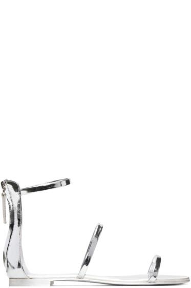 Giuseppe Zanotti - Silver Patent Roll Sandals