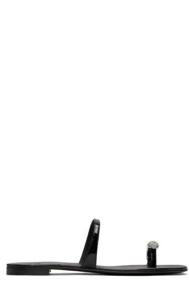 Giuseppe Zanotti - Black Patent Nuvorock Sandals