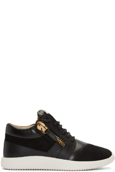 Giuseppe Zanotti - Black Leather Sneakers