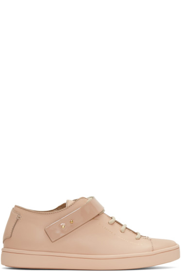Giuseppe Zanotti - Pink Leather Strap Sneakers