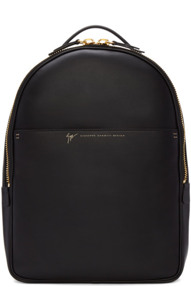 Giuseppe Zanotti - Black Leather Calby Backpack