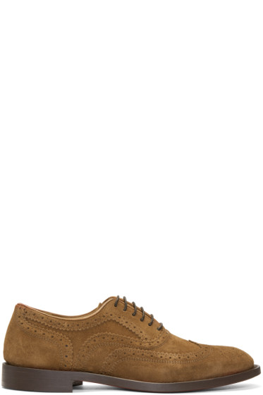 H by Hudson - Tan Suede Heyford Brogues