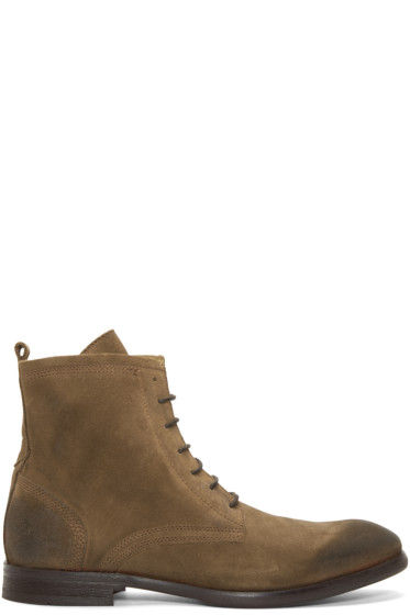 H by Hudson - Tan Suede Lennon Boots