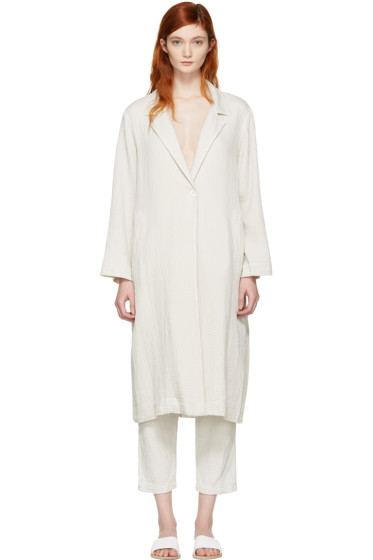 Raquel Allegra - White Gauze Trench Coat