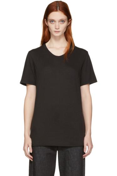 Raquel Allegra - Black Jersey Basic T-Shirt
