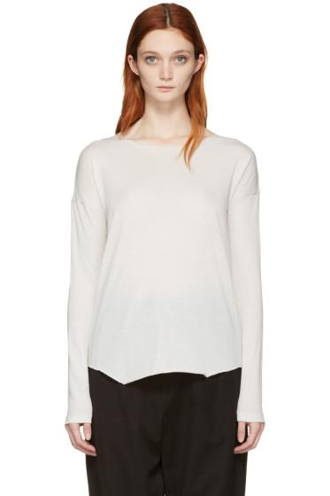 Raquel Allegra - White Jersey Basic T-Shirt